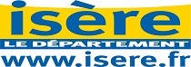 Logo du Département de l'Isère bleu et jaune