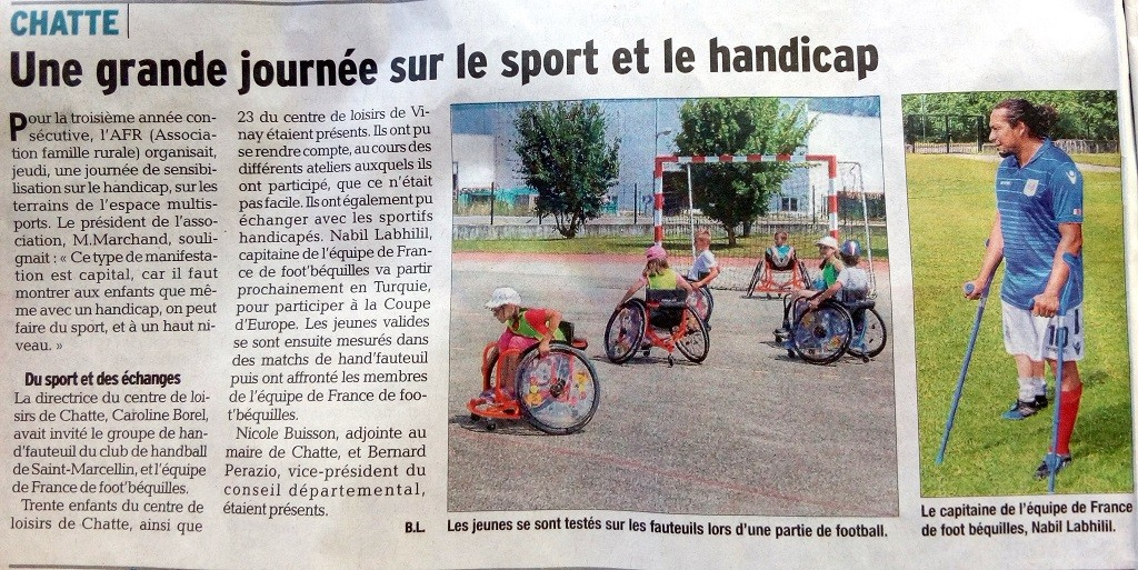 article DL journée sport et handicap 27-07-2017