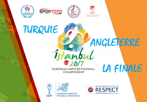 Affiche Coupe d'Europe Foot pour Amputés 2017