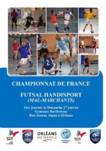 51666e14d8 A l initiative de l ASH Orléans sous l égide de la Fédération Handisport  était organisée la première journée du Championnat de France Futsal  Handisport (mal ...